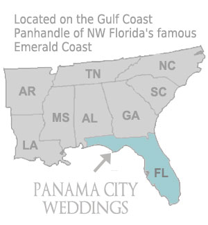 Emerald Coast Florida Map.Florida Beach Weddings Panama City Weddings Inc Wedding Planner